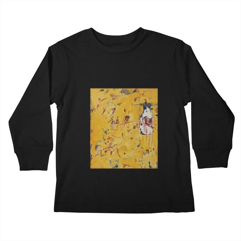 Milk Bottle Kids Longsleeve T-Shirt by Luskay Art Shop