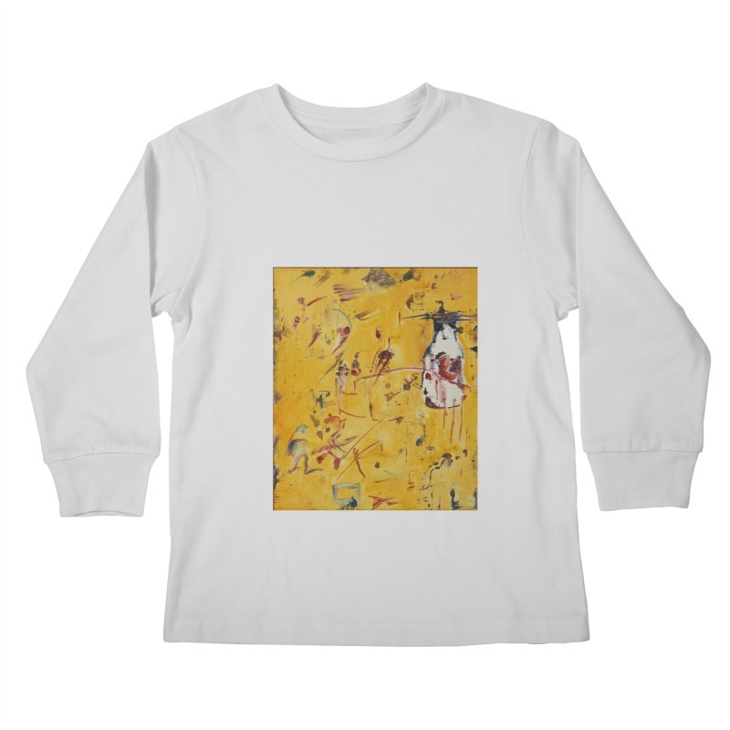 Milk Bottle Kids Longsleeve T-Shirt by Luskay Art Shop
