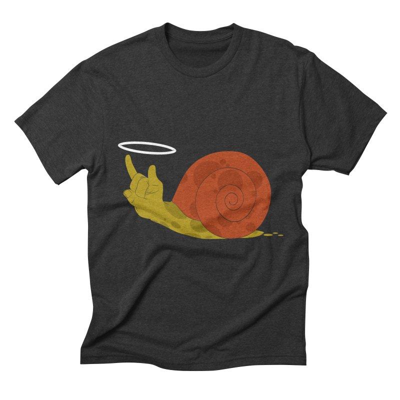SLOW ROCK Men's Triblend T-shirt by luwes's Artist Shop