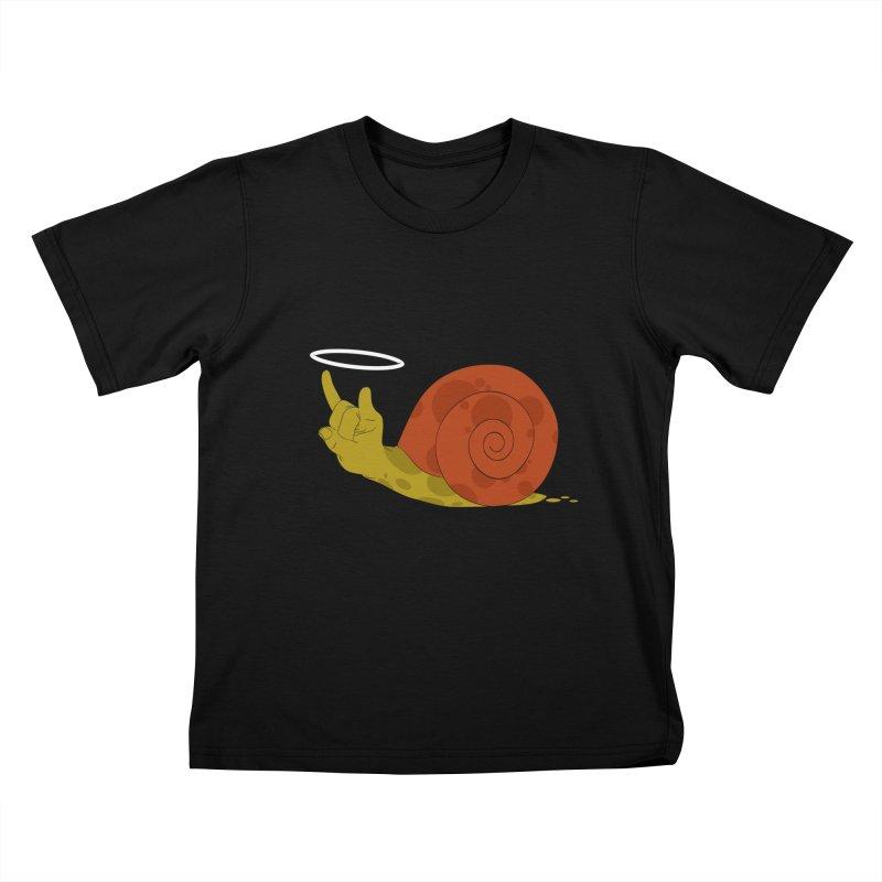 SLOW ROCK Kids T-shirt by luwes's Artist Shop