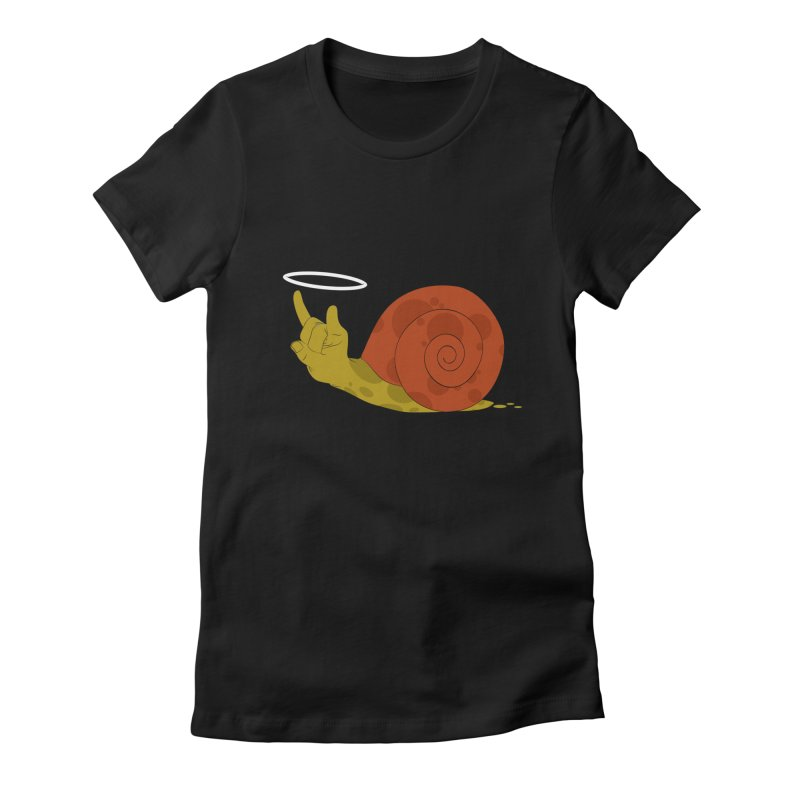SLOW ROCK Women's Fitted T-Shirt by luwes's Artist Shop