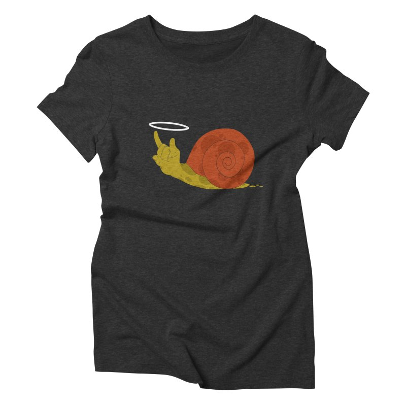 SLOW ROCK Women's Triblend T-Shirt by luwes's Artist Shop