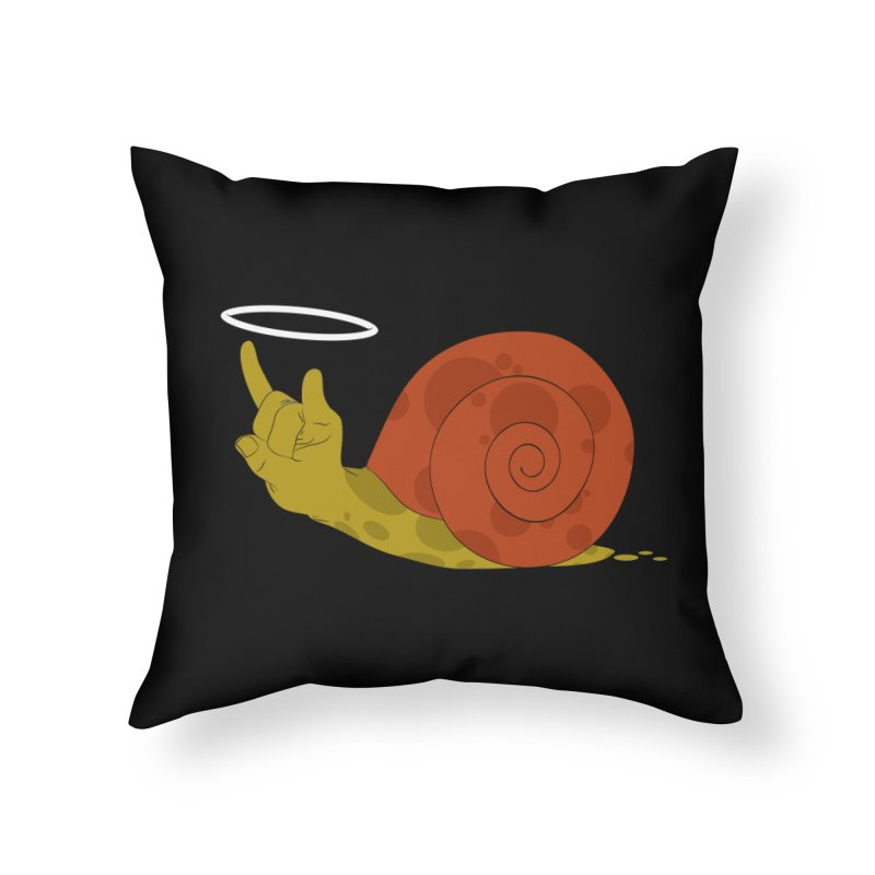 SLOW ROCK Home Throw Pillow by luwes's Artist Shop