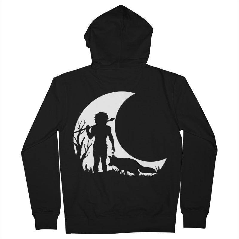 Half moon Men's Zip-Up Hoody by luwes's Artist Shop