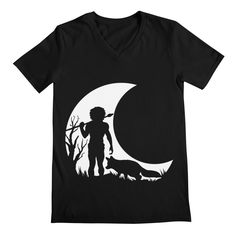Half moon Men's V-Neck by luwes's Artist Shop