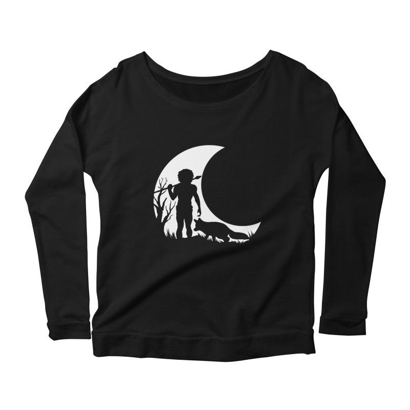 Half moon Women's Longsleeve Scoopneck  by luwes's Artist Shop