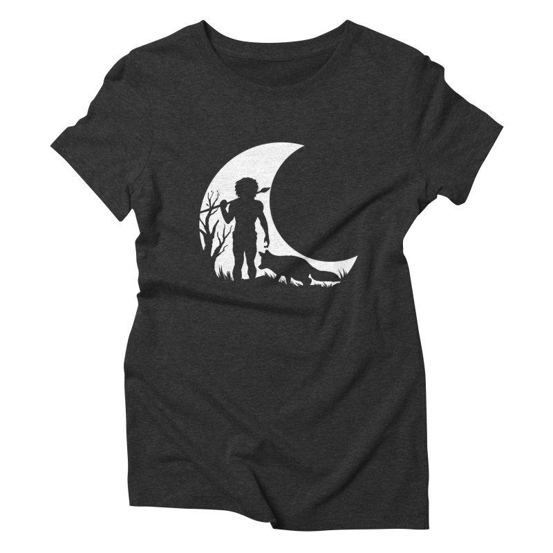 Half moon Women's Triblend T-shirt by luwes's Artist Shop