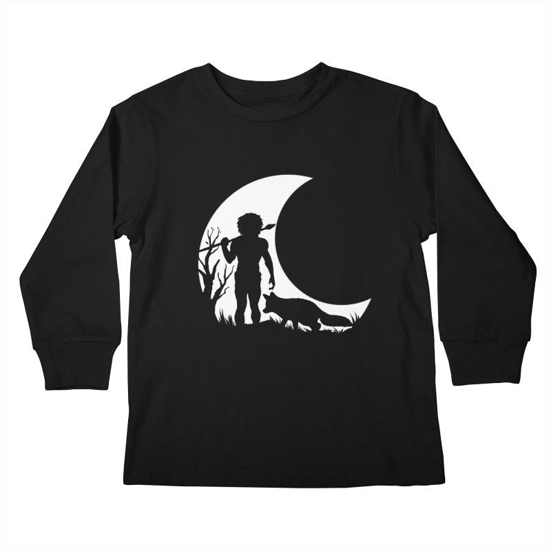 Half moon Kids Longsleeve T-Shirt by luwes's Artist Shop