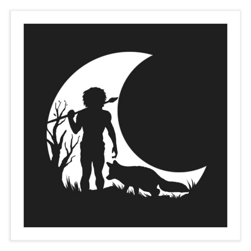 Half moon Home Fine Art Print by luwes's Artist Shop