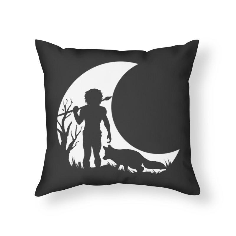 Half moon Home Throw Pillow by luwes's Artist Shop