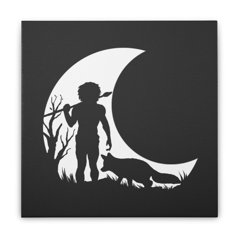 Half moon Home Stretched Canvas by luwes's Artist Shop