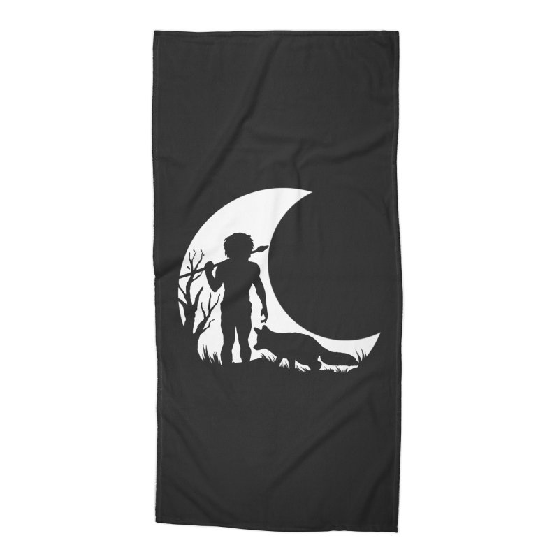Half moon Accessories Beach Towel by luwes's Artist Shop
