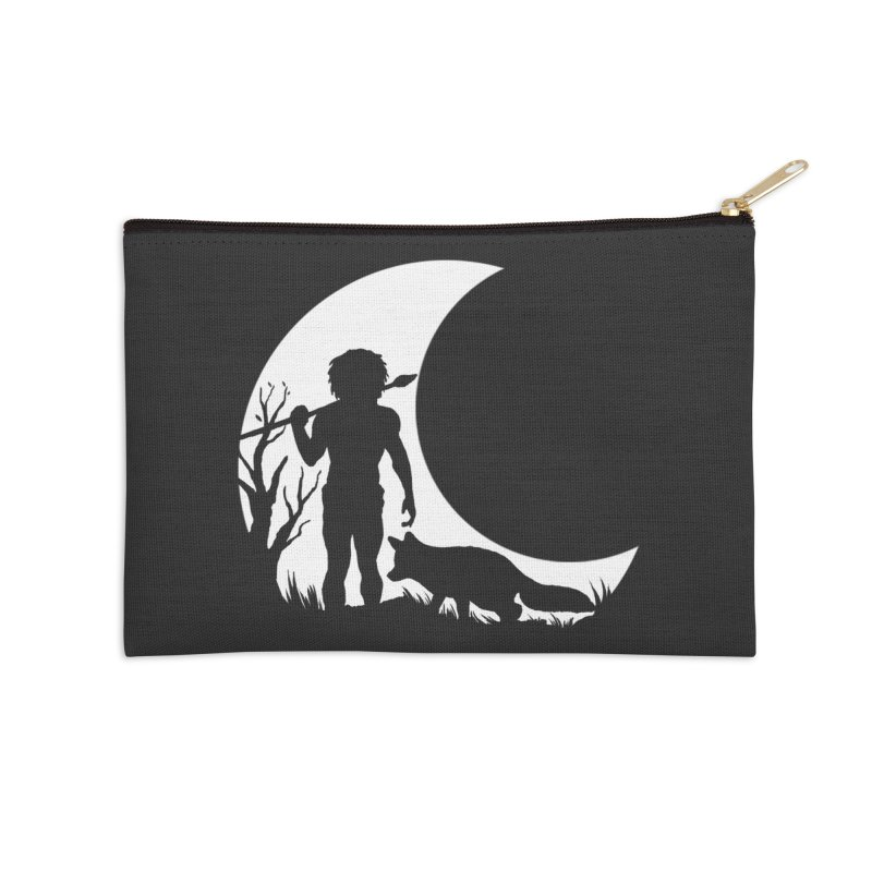 Half moon Accessories Zip Pouch by luwes's Artist Shop