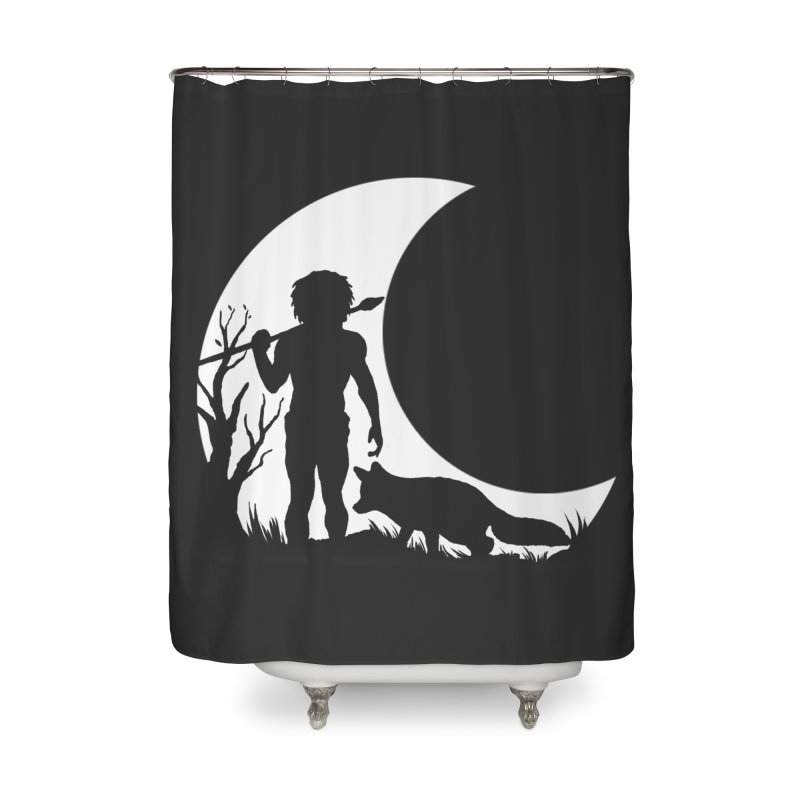 Half moon Home Shower Curtain by luwes's Artist Shop