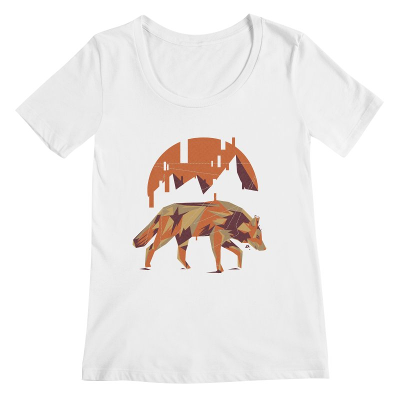 BEHIND THE CUBE Women's Scoopneck by luwes's Artist Shop