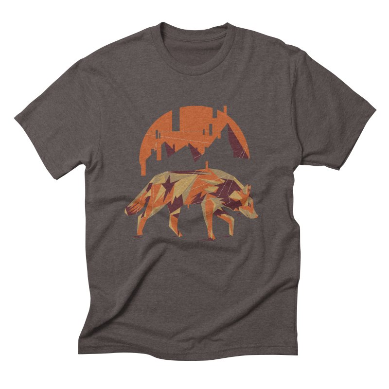 BEHIND THE CUBE Men's Triblend T-shirt by luwes's Artist Shop