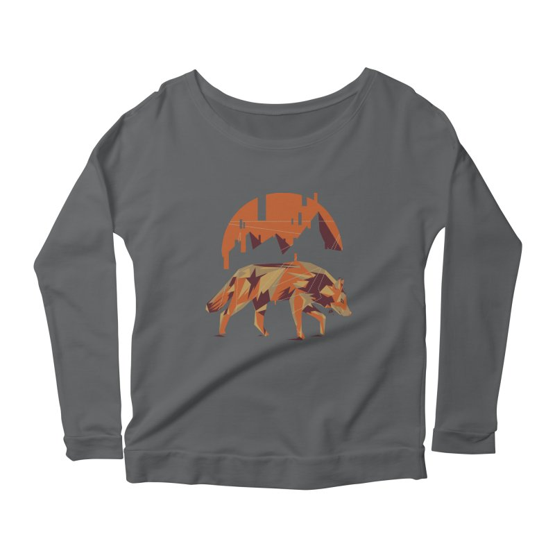 BEHIND THE CUBE Women's Longsleeve Scoopneck  by luwes's Artist Shop