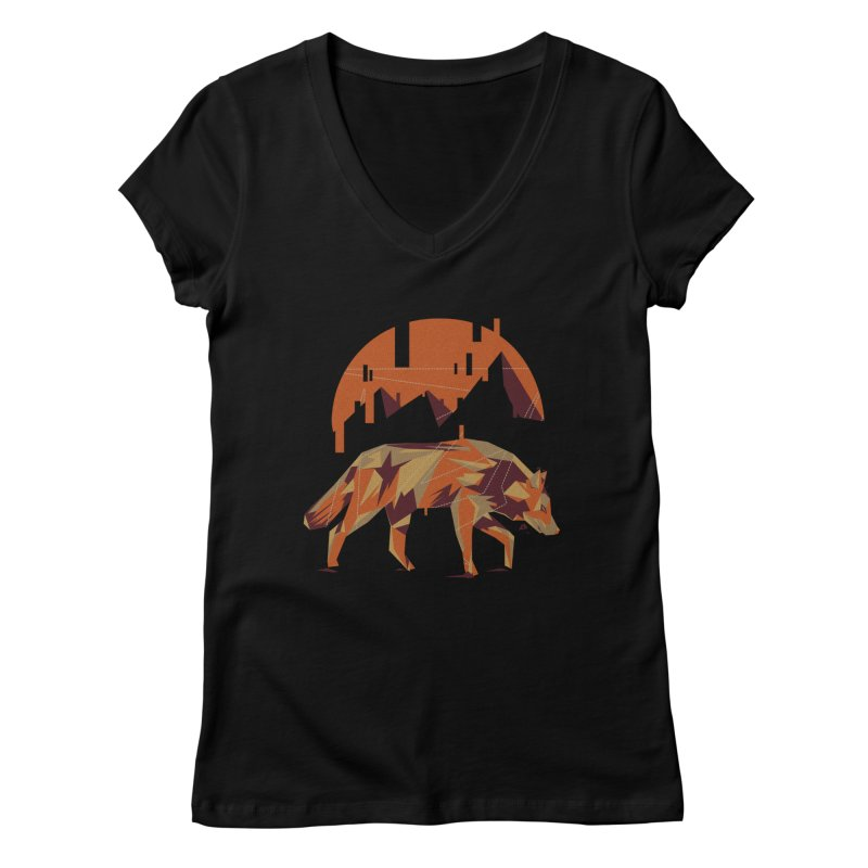 BEHIND THE CUBE Women's V-Neck by luwes's Artist Shop