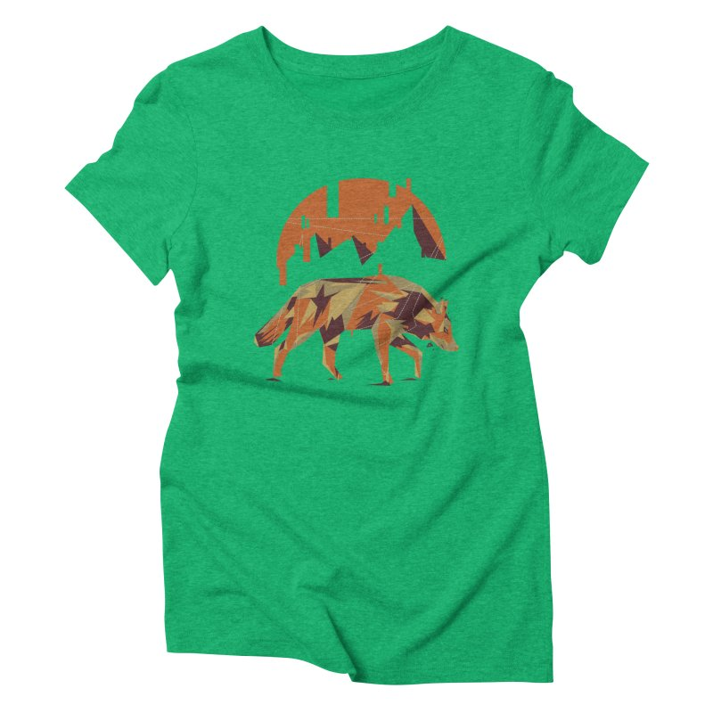 BEHIND THE CUBE Women's Triblend T-Shirt by luwes's Artist Shop