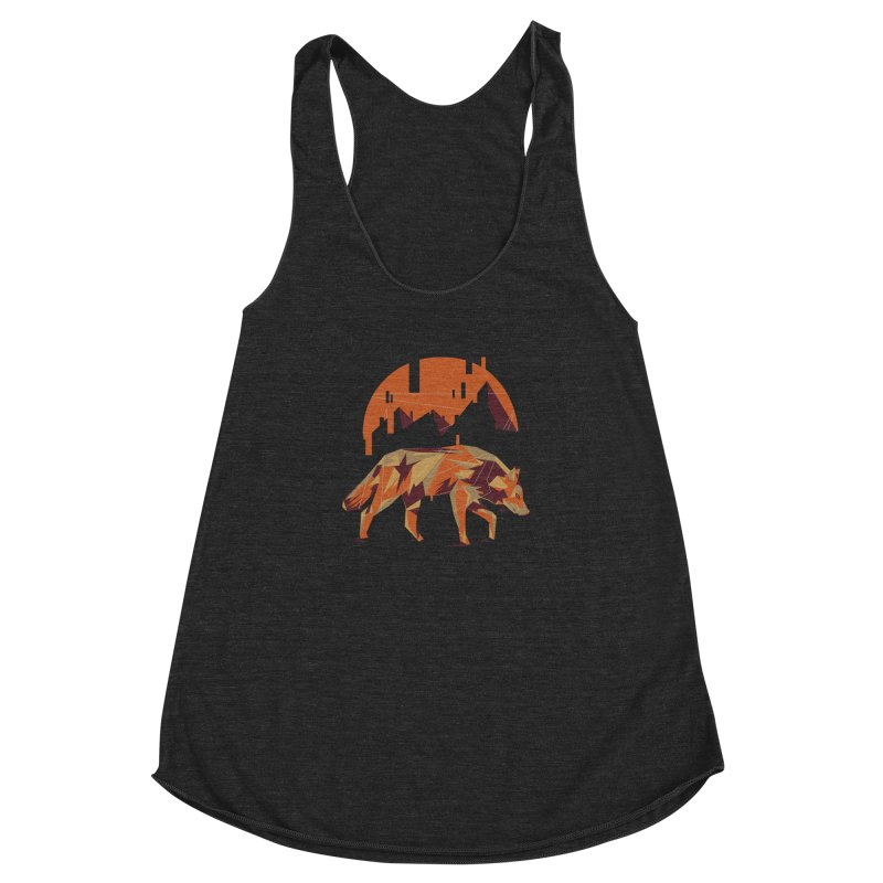 BEHIND THE CUBE Women's Racerback Triblend Tank by luwes's Artist Shop