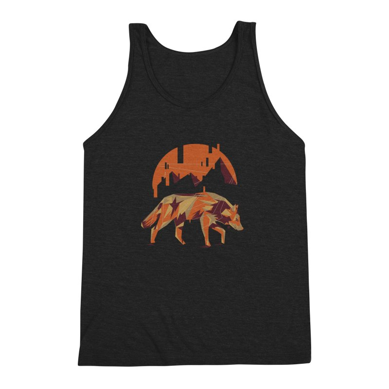 BEHIND THE CUBE Men's Triblend Tank by luwes's Artist Shop