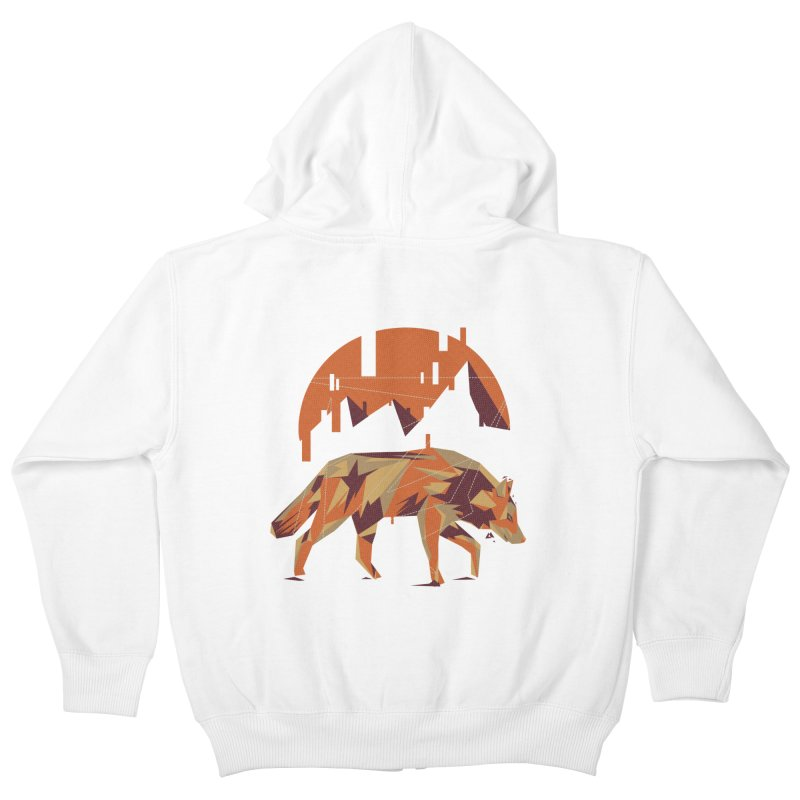 BEHIND THE CUBE Kids Zip-Up Hoody by luwes's Artist Shop