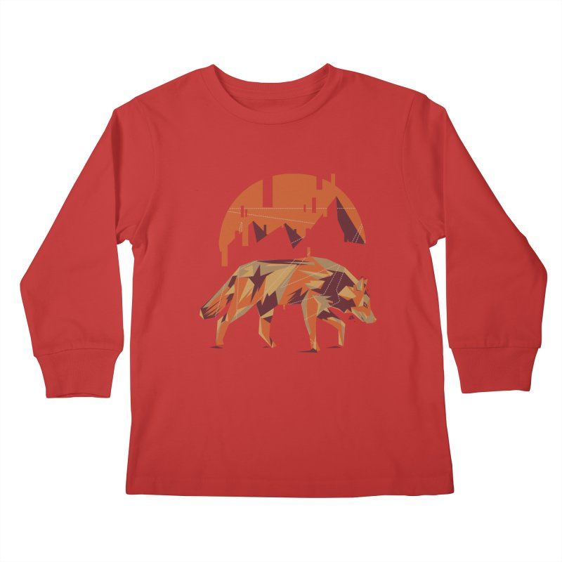 BEHIND THE CUBE Kids Longsleeve T-Shirt by luwes's Artist Shop