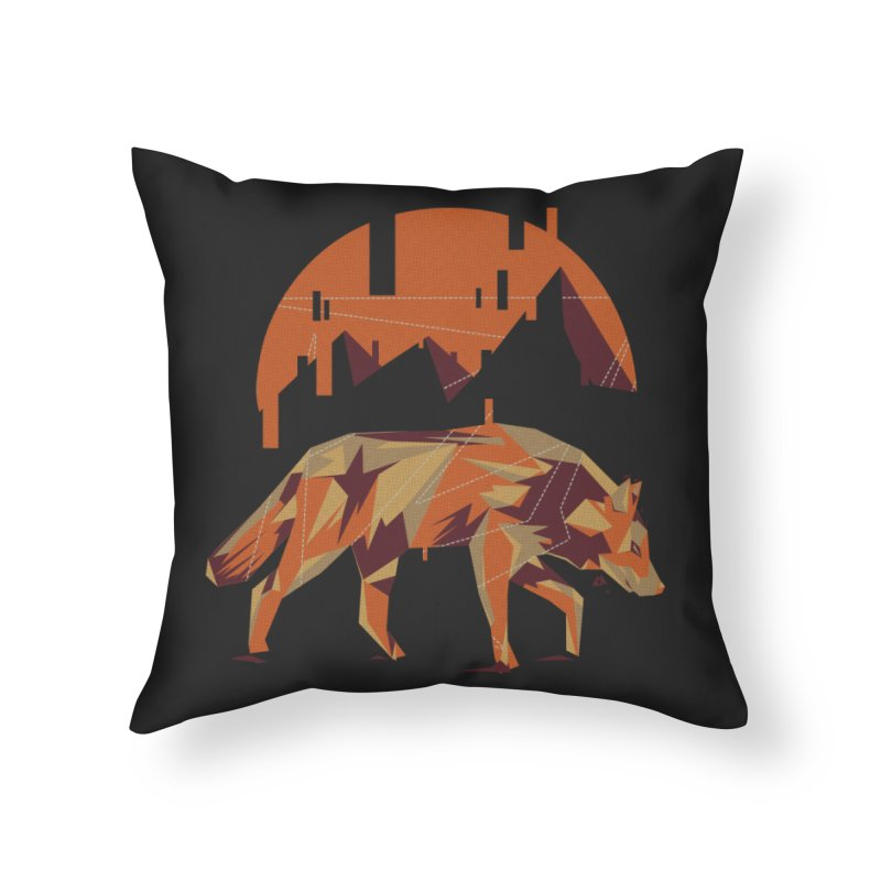 BEHIND THE CUBE Home Throw Pillow by luwes's Artist Shop