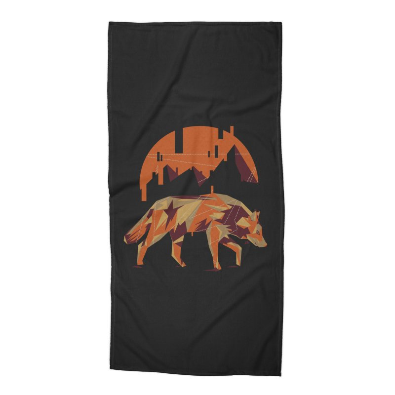 BEHIND THE CUBE Accessories Beach Towel by luwes's Artist Shop