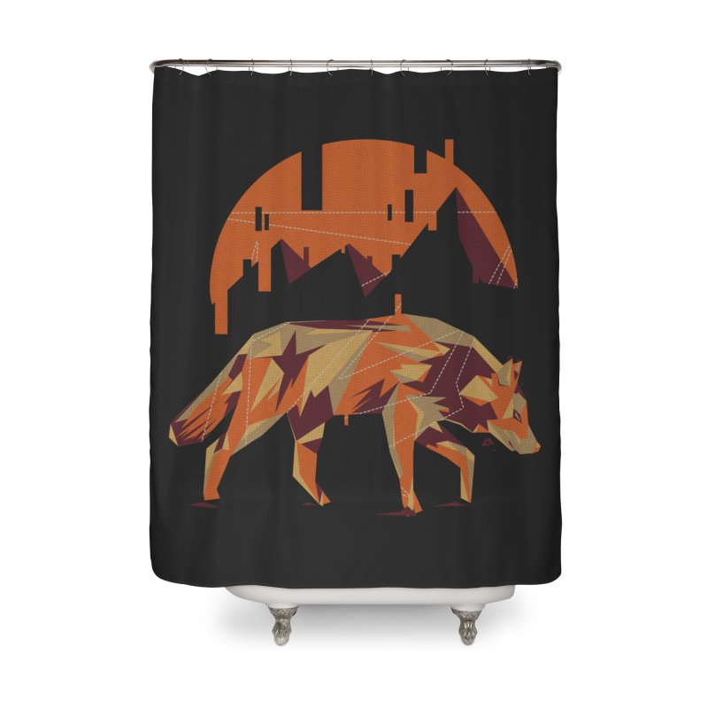 BEHIND THE CUBE Home Shower Curtain by luwes's Artist Shop
