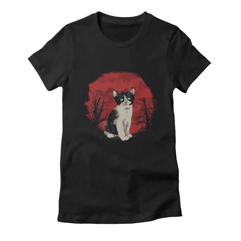 CATTY Women's Fitted T-Shirt by luwes's Artist Shop