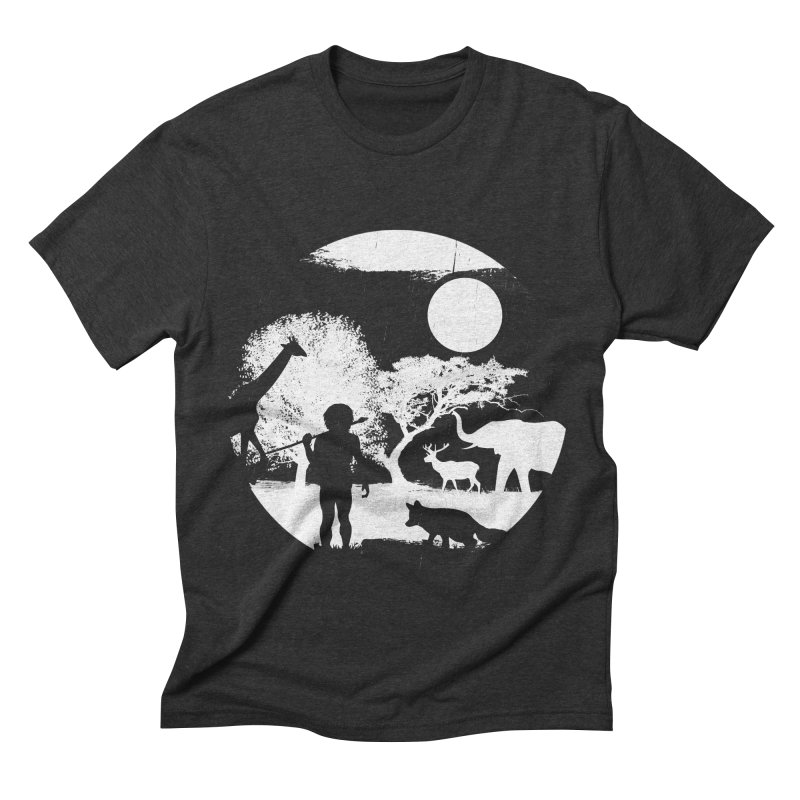 NIGHT JOB Men's Triblend T-shirt by luwes's Artist Shop