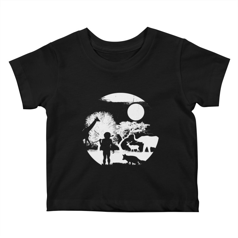 NIGHT JOB Kids Baby T-Shirt by luwes's Artist Shop