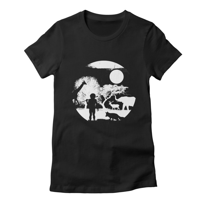 NIGHT JOB Women's Fitted T-Shirt by luwes's Artist Shop