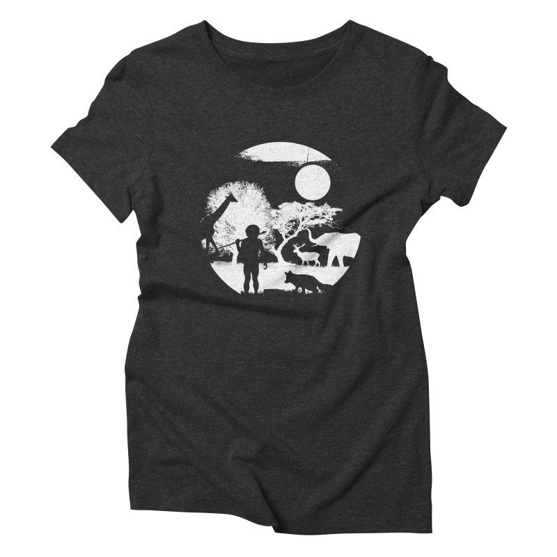 NIGHT JOB Women's Triblend T-shirt by luwes's Artist Shop