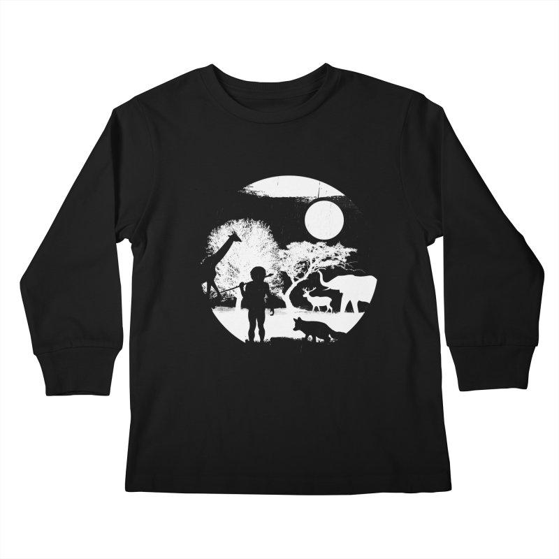 NIGHT JOB Kids Longsleeve T-Shirt by luwes's Artist Shop