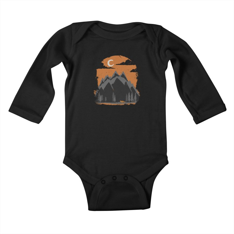 hunting Kids Baby Longsleeve Bodysuit by luwes's Artist Shop