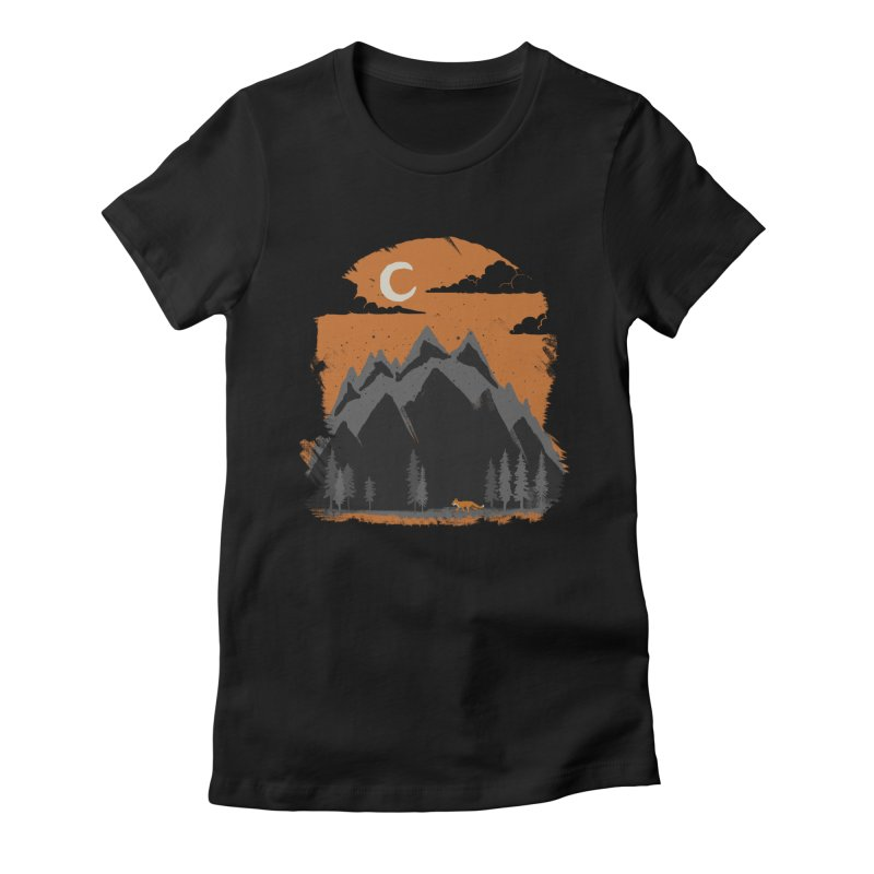 hunting Women's Fitted T-Shirt by luwes's Artist Shop