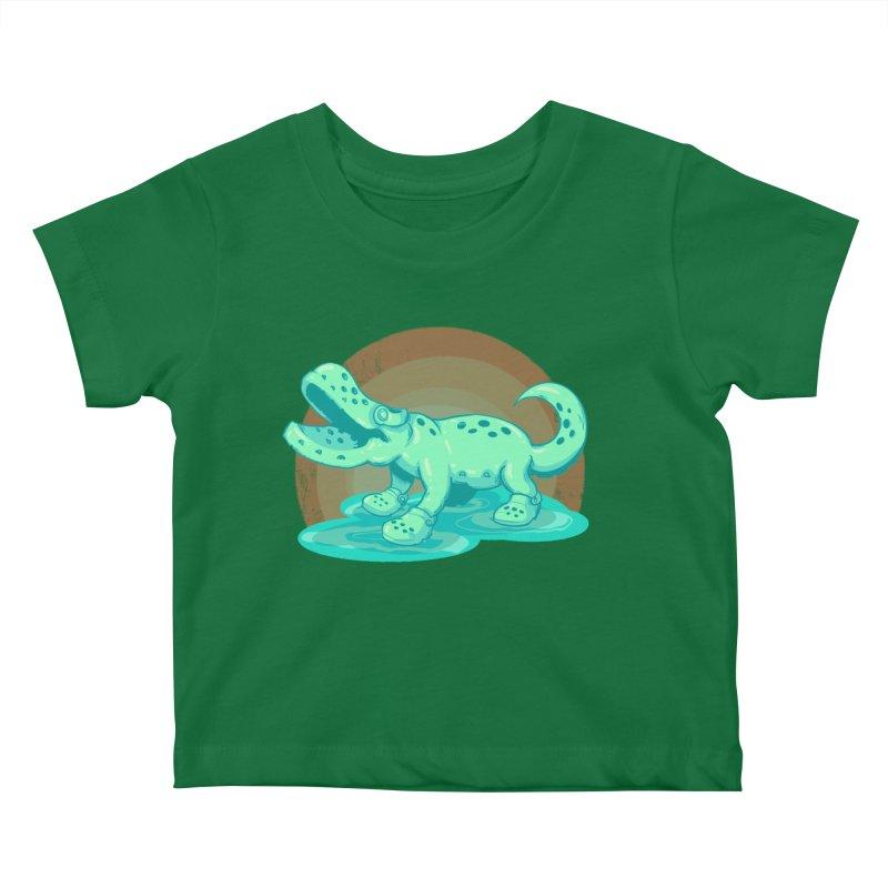 Croc Kids Baby T-Shirt by lvbart's Artist Shop