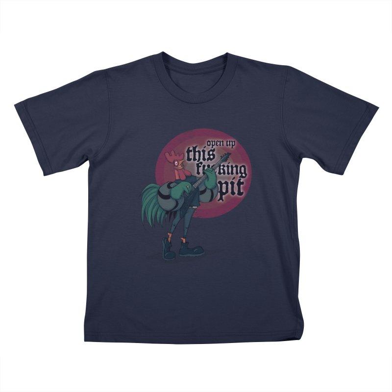 Band of Metal Men Kids T-Shirt by lvbart's Artist Shop