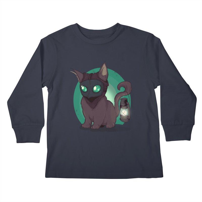 Plague Kitten Kids Longsleeve T-Shirt by lvbart's Artist Shop