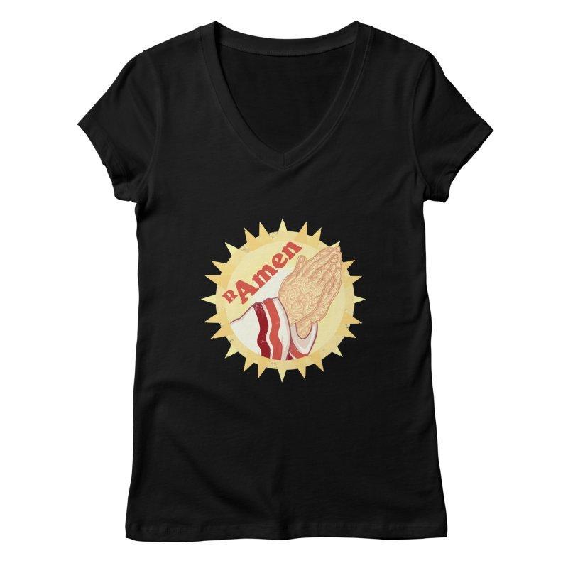 Ramen Women's V-Neck by lvbart's Artist Shop