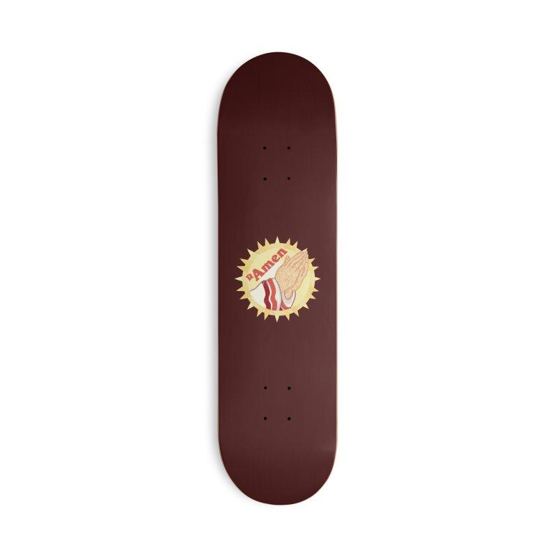 Ramen Accessories Skateboard by lvbart's Artist Shop