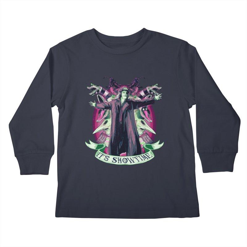 It's Showtime Kids Longsleeve T-Shirt by lvbart's Artist Shop