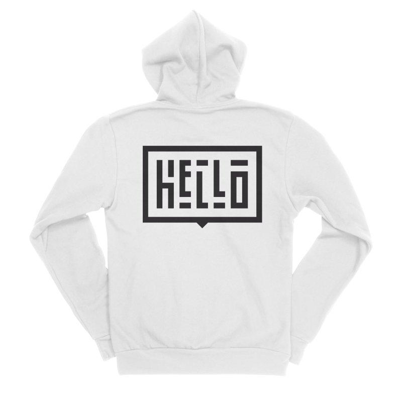 Hello Men's Sponge Fleece Zip-Up Hoody by LVS360 Artist Shop
