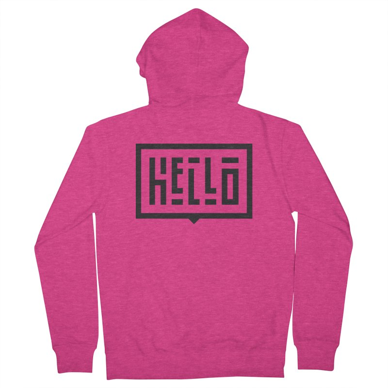 Hello Women's French Terry Zip-Up Hoody by LVS360 Artist Shop