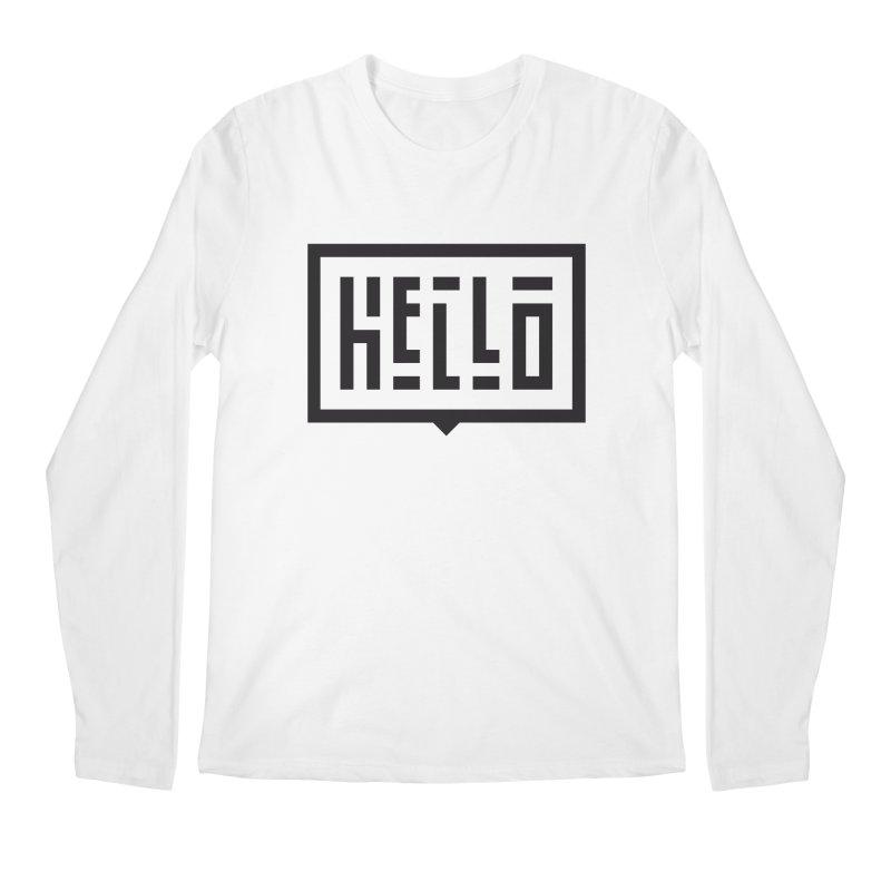 Hello Men's Regular Longsleeve T-Shirt by LVS360 Artist Shop