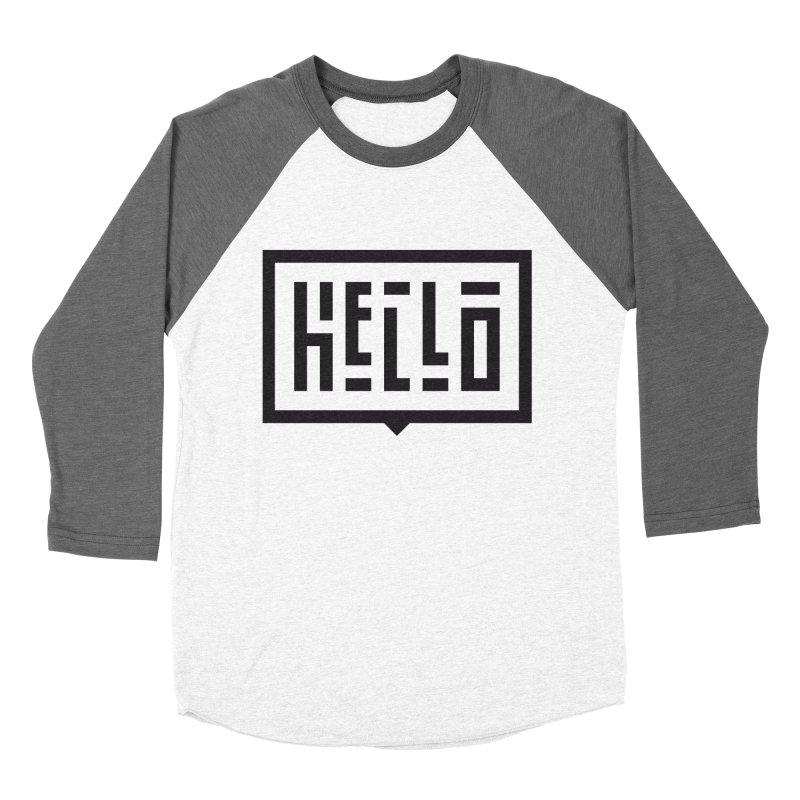 Hello Men's Baseball Triblend Longsleeve T-Shirt by LVS360 Artist Shop
