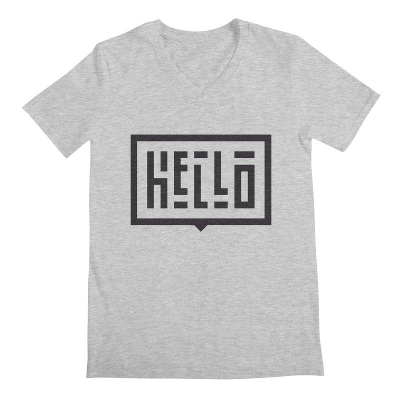 Hello Men's Regular V-Neck by LVS360 Artist Shop