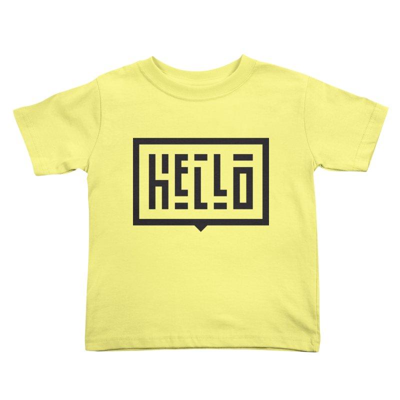 Hello Kids Toddler T-Shirt by LVS360 Artist Shop